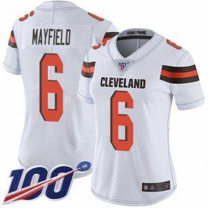 Women Browns Baker Mayfield 100th Season Jersey (5